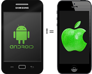 Android UI is not iPhone UI